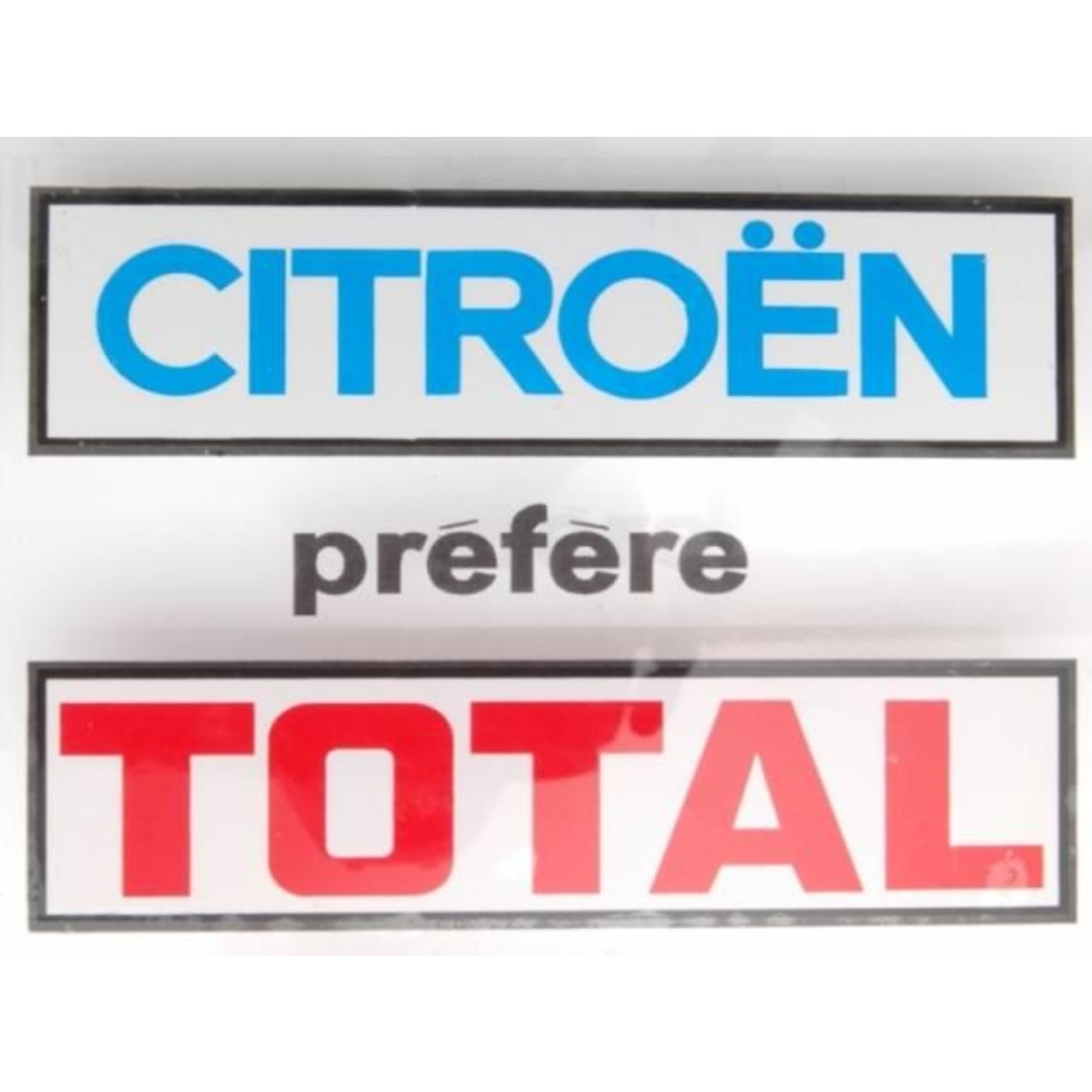 """Sticker""""citroen prefere total"""" rechthoekig"""