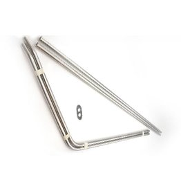 S/s rear tubes Stainless Steel -61 - 2 parts