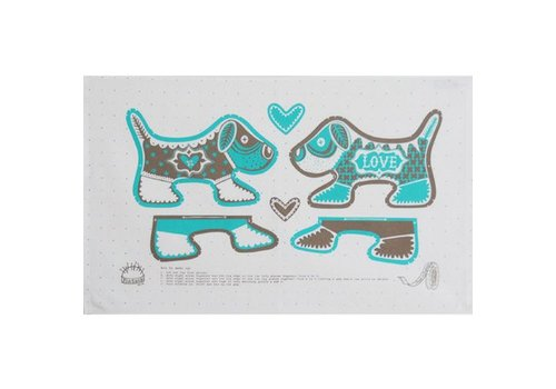 Marry Fellows - Pintuck Theedoek Puppy Love