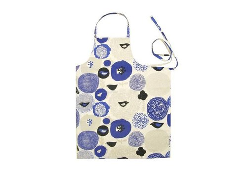 Kauniste keukenschort blauwe bloemen Sunnuntai