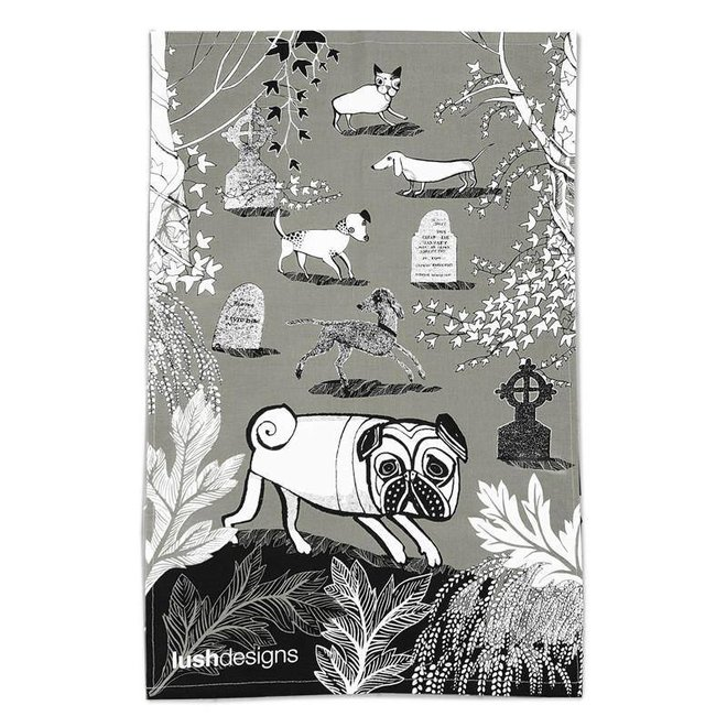 Dogs Tea Towel