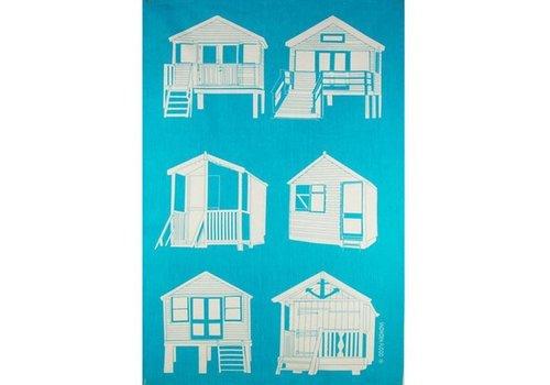 Beach Houses Tea Towel