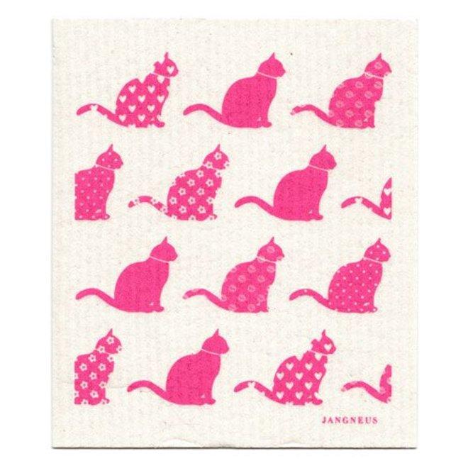 Vaatdoek roze katten