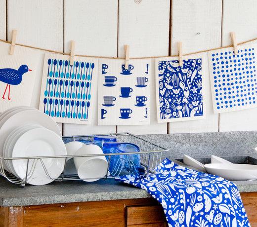 blauw keukentextiel - en accessoires
