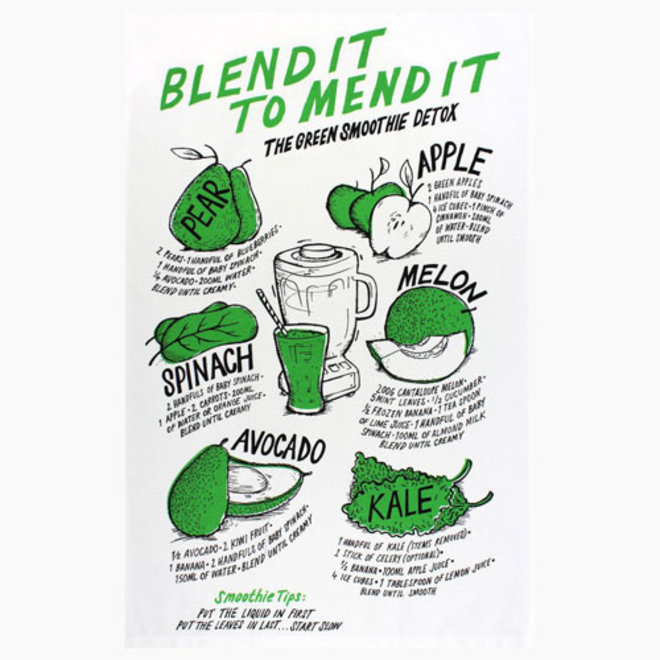 Blend it Tea towel Henry Makin