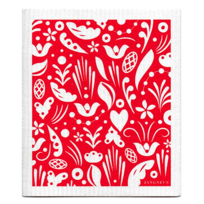 Keukentextiel set Dala rood