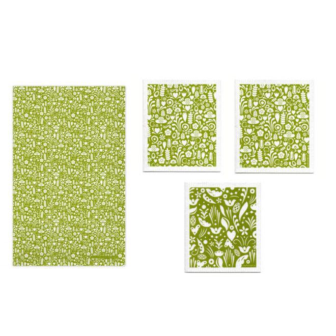 Keukentextiel set Dala groen