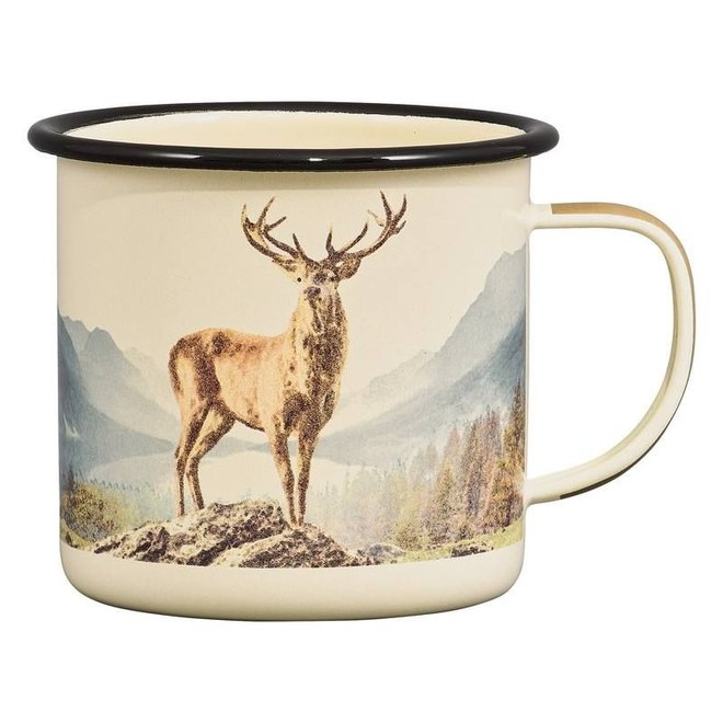Emaille mok Great Outdoors Deer