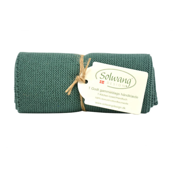 Knitted towel dark petrol