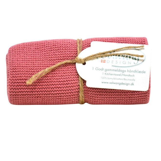 Knitted towel  Antique Rose (H104)