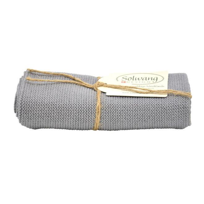 Gebreide handdoek Medium Steel Grey