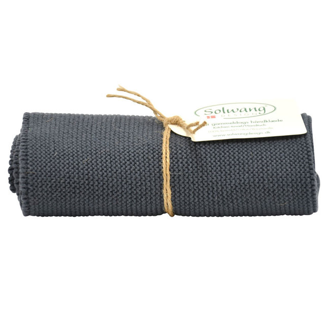 Knitted towel Dark Steel Grey