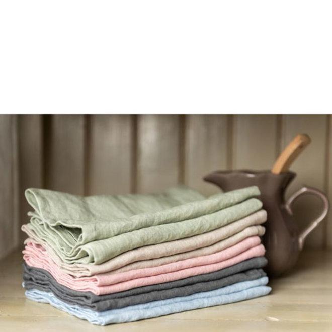 Linen tea towel blue