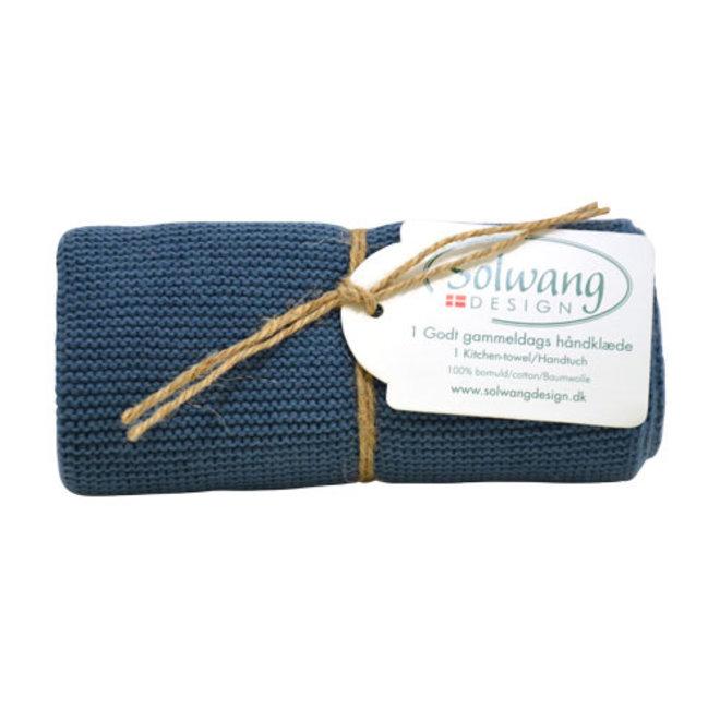 Knitted towel Dark Rustic Blue