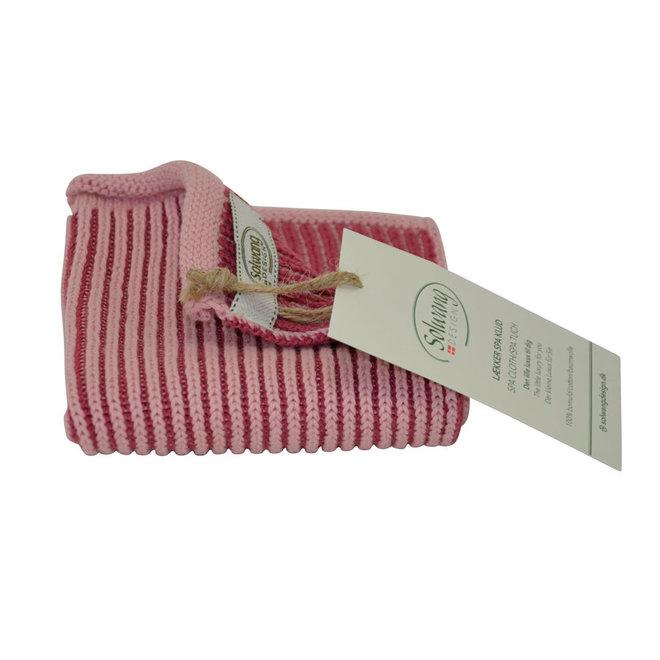Knitted dishcloth Ribrib Spa Rose