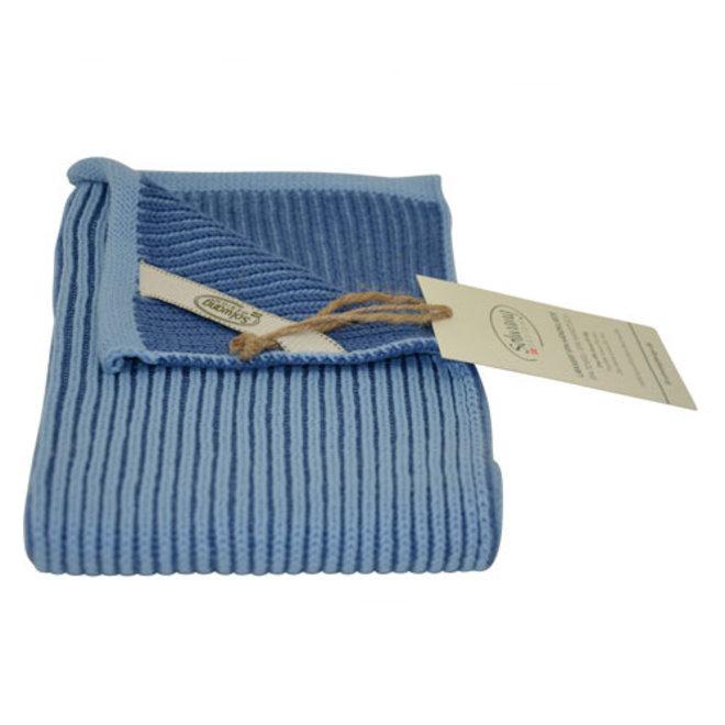 Knitted towel Ribrib Spa Blue