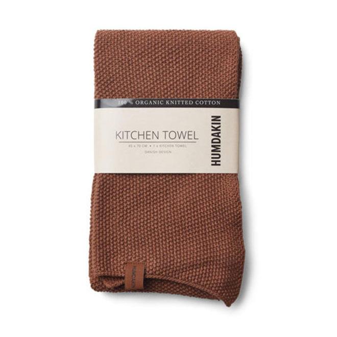 Gebreide handdoek Dark Brown