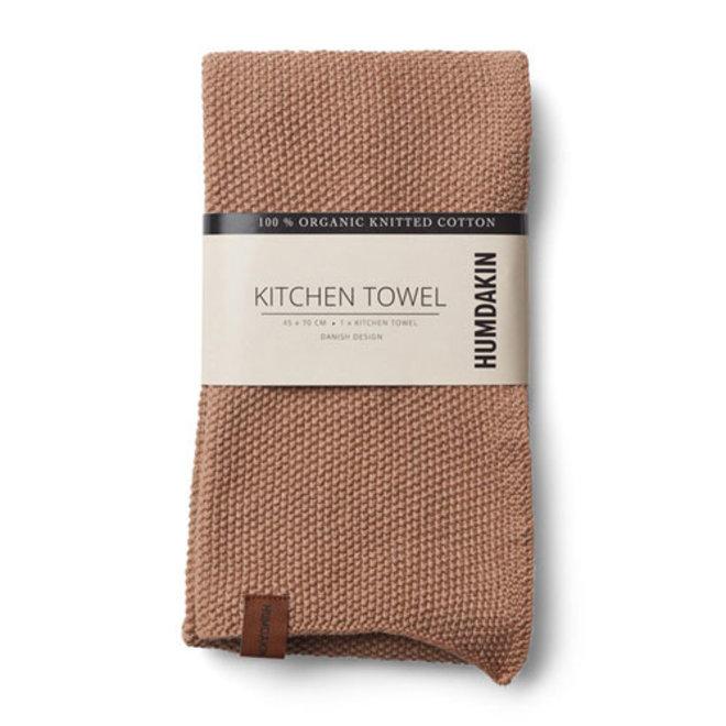 Gebreide handdoek Latte
