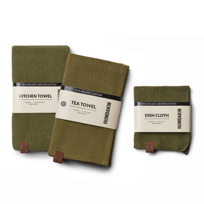 Fern kitchen textile set