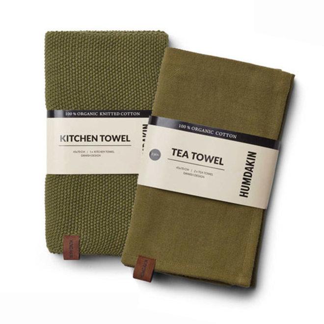 Fern tea towel and hand towel set