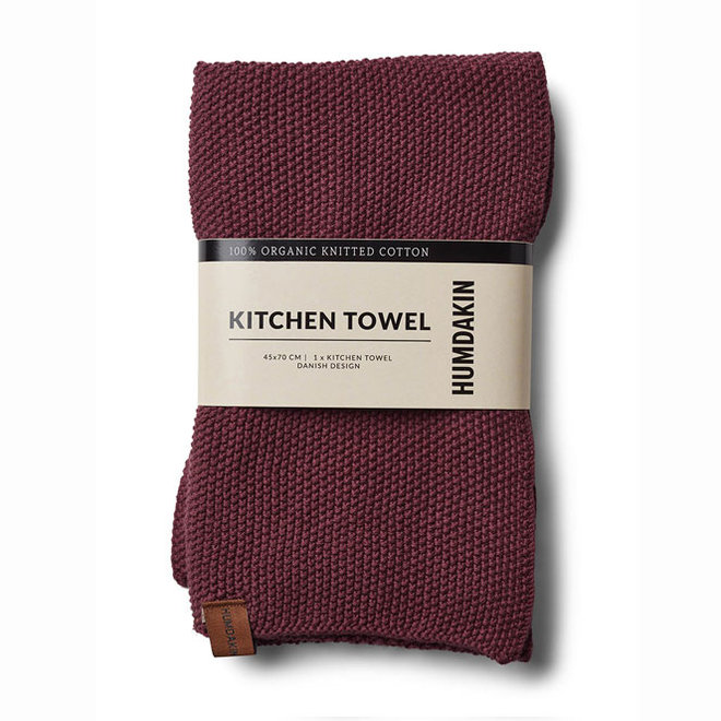 Knitted Towel Violet Plump