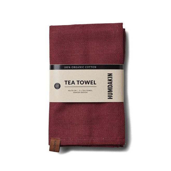 Violet Plum tea towel and hand towel set