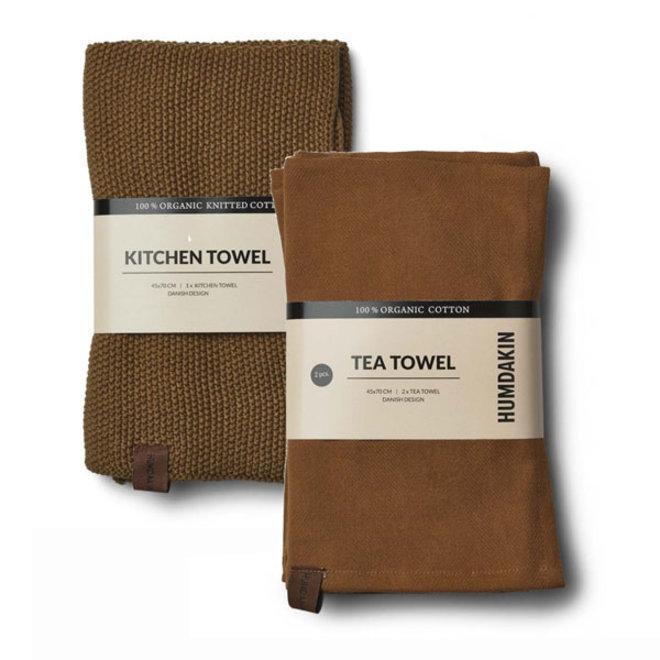 Sunset tea towel and hand towel set