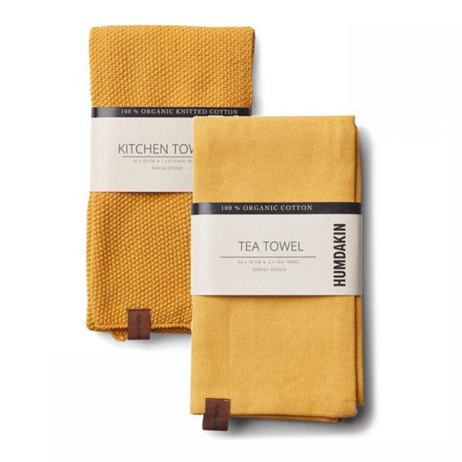 Yellow Fall handdoek en theedoek set