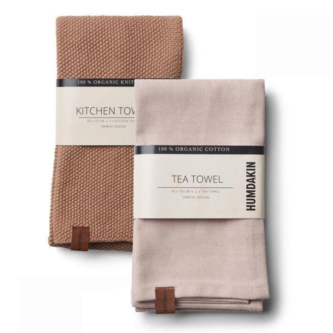 Latte tea towel and hand towel set