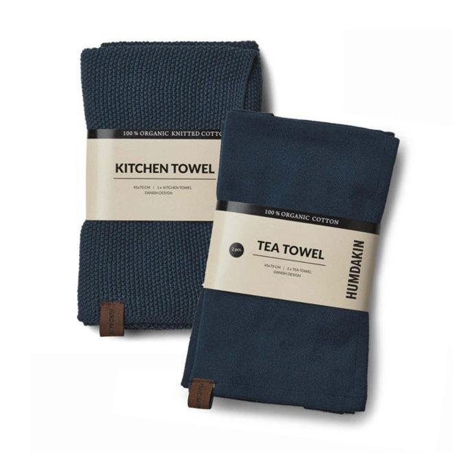Sea Blue towel and hand towel set