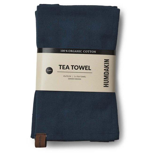 Sea Blue tea towel and hand towel set