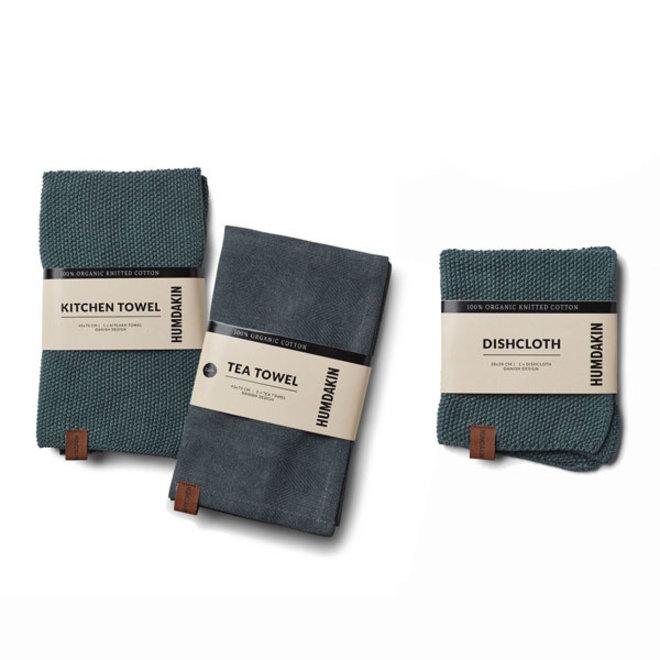 Green Seaweed kitchen textile set