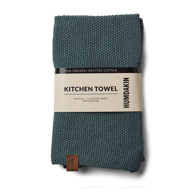 Knitted Towel Green Seaweed