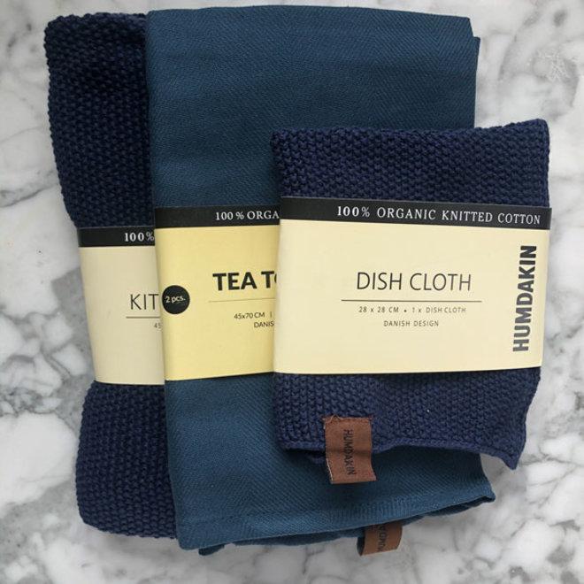 Sea Blue kitchen textile set