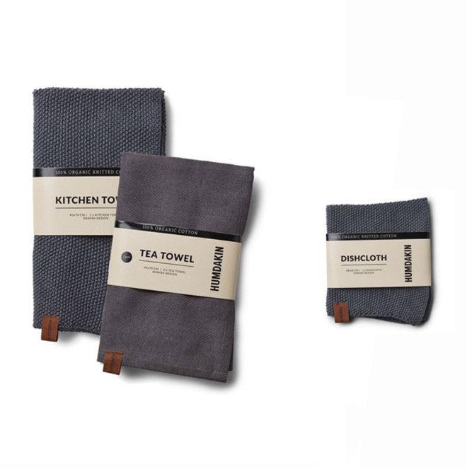 Dark Ash kitchen textile set