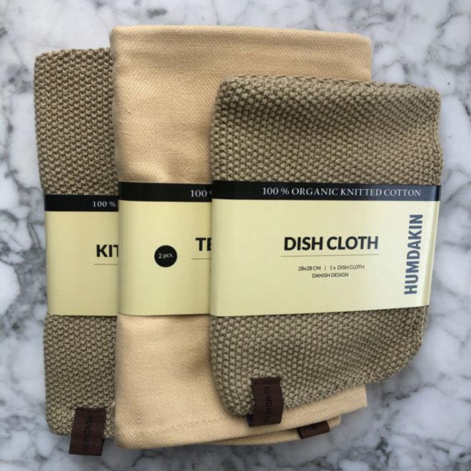 Khaki kitchen textile set