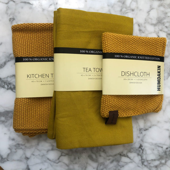 Yellow Fall kitchen textile set