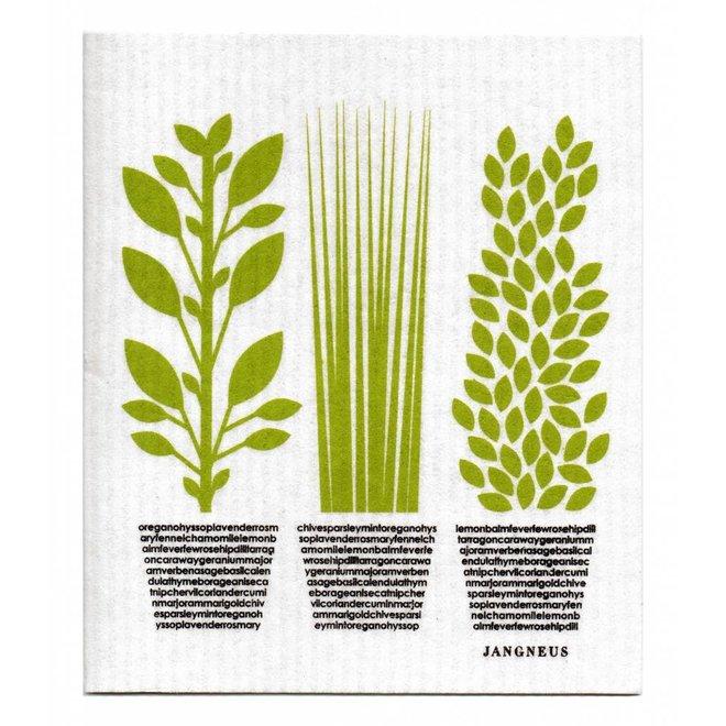 Dishcloth Green Herbs
