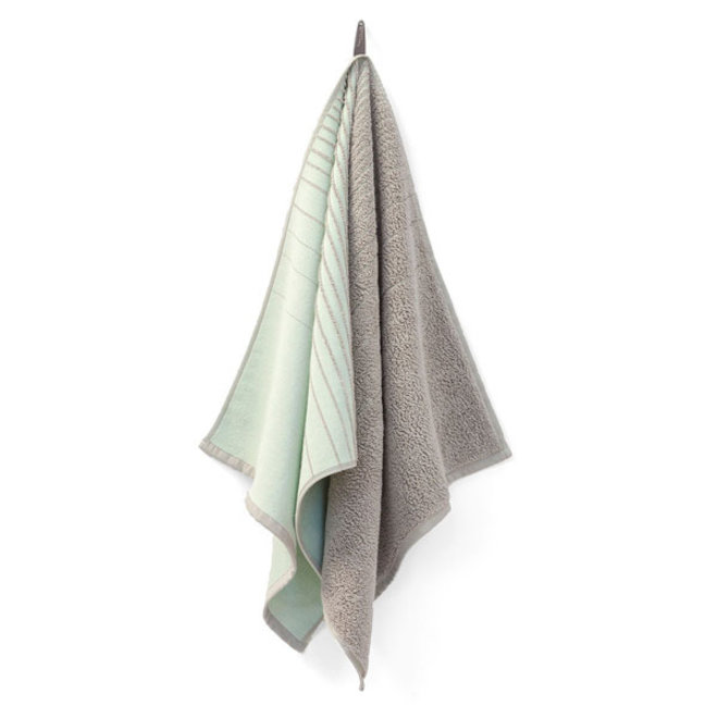Two Towel Green Grey