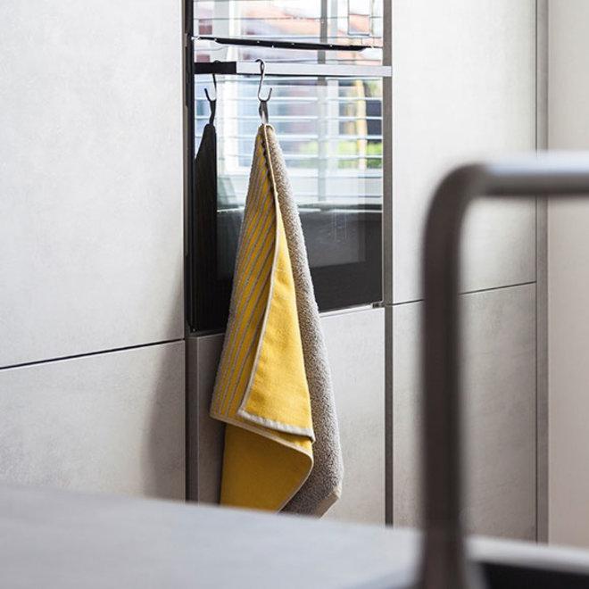 Two Towel Yellow Grey