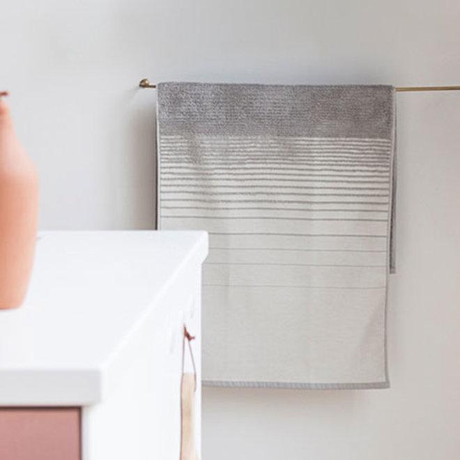 Two Towel White Grey