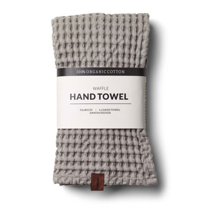 Waffle hand towel Stone
