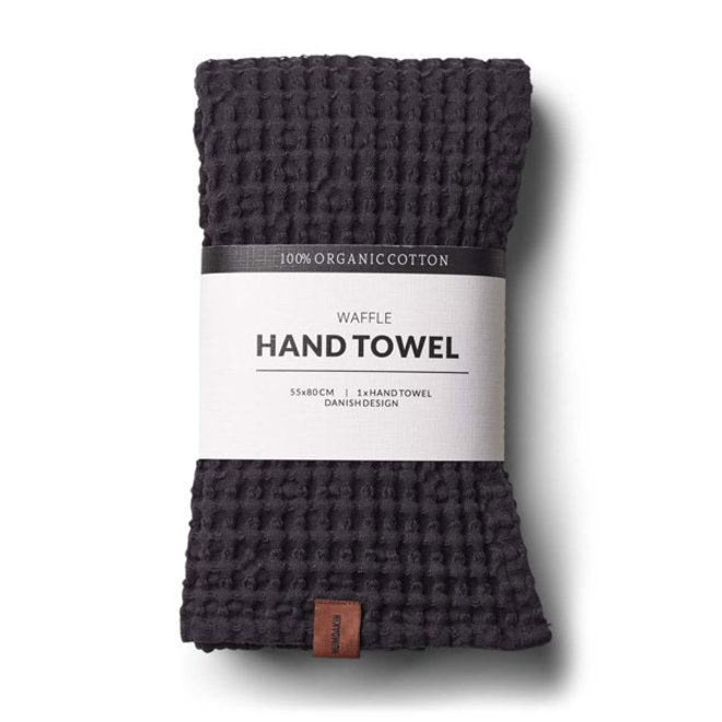 Waffle hand towel Coal