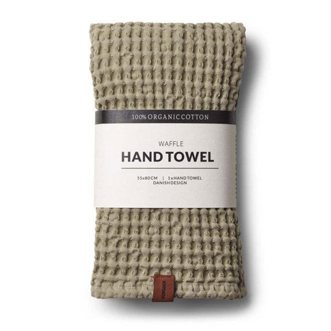 Waffle hand towel  Oak