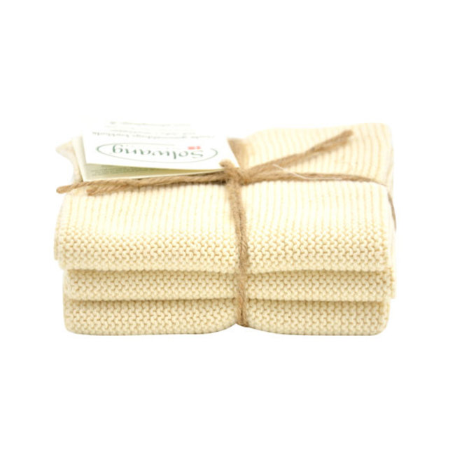 Set knitted dishcloths Nature (02-02-02)