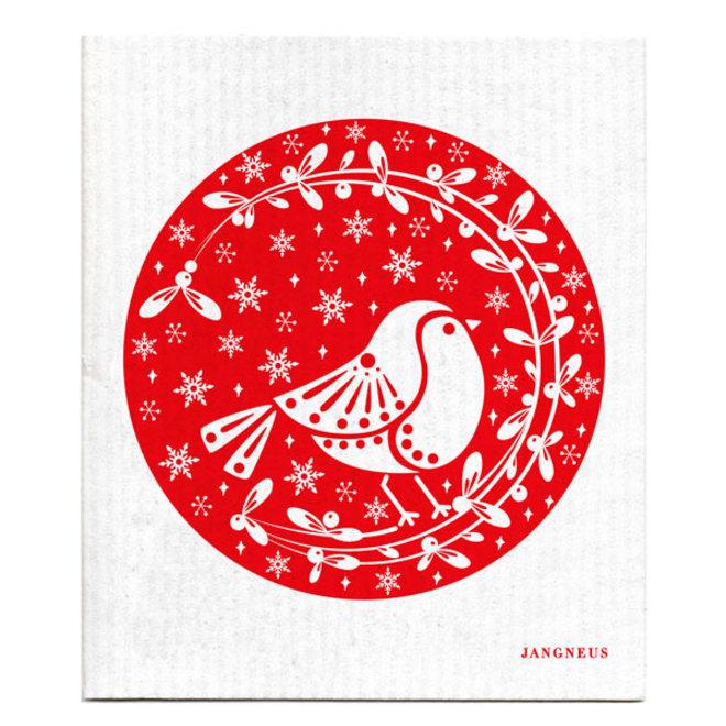 Dishcloth Robins Red