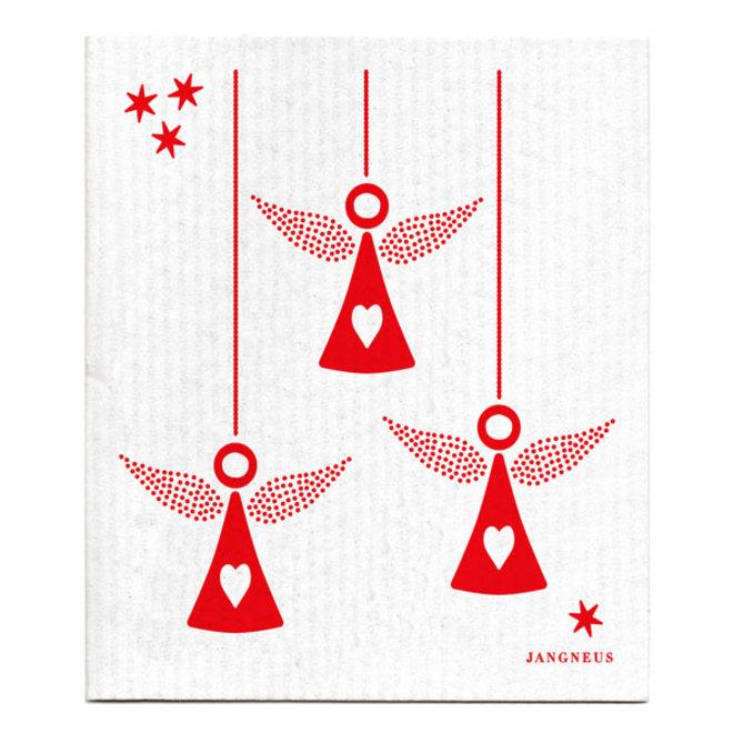 Dishcloth Red Angels