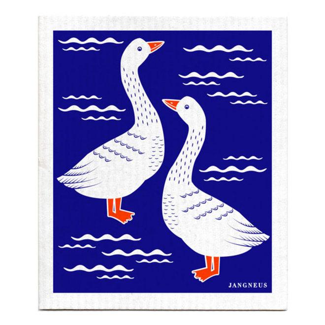 Dishcloth Blue Geese