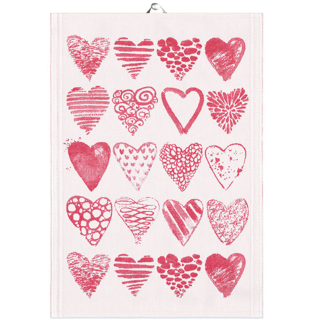 Tea Towel Hearts