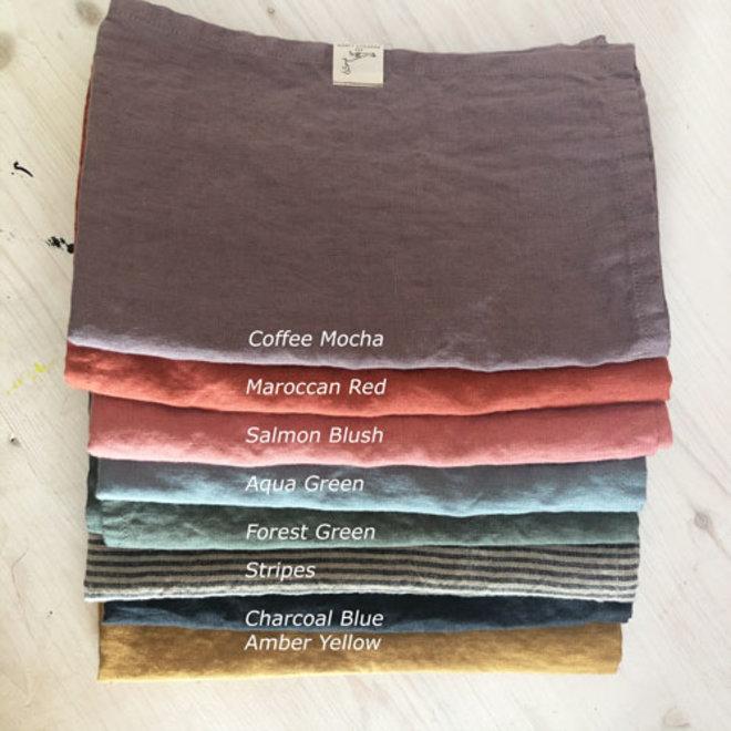 Linen Tea Towel Salmon Blush